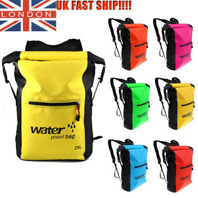 25L Waterproof Dry Bag Sack for Kayak/Canoeing/Fishing/Sailing/Camping Rucksacks