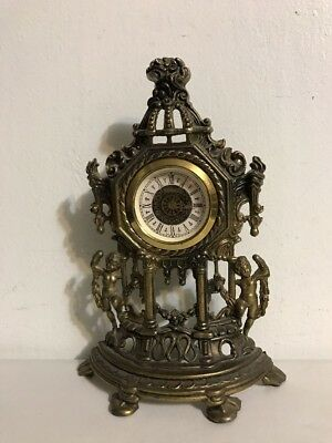 Vintage Mantle Clock Cast Brass it does Not Work or For Parties