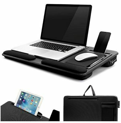 Portable Laptop Lap Desk Table Tray Stand Pillow Foam Cushion for Lap UpTo 17.3""
