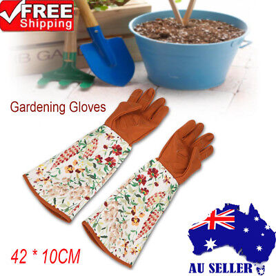 2pcs Long Sleeve Gardening Gloves Hands Protector for Pruning Yard Trimming New