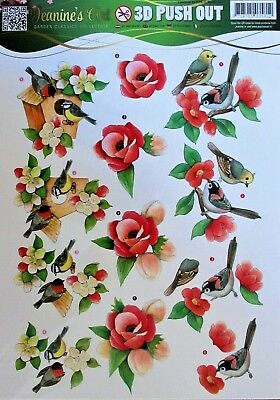 A4 DIE CUT 3D PAPER TOLE DECOUPAGE Push Out Winter Flowers SB10302