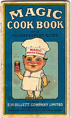 Magic Cook Book & Housekeepers Guide1942s vintage E.W. Gillett Company gmc2
