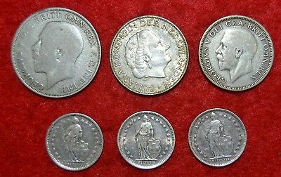 LOTE  6 COINS SILVER / Many countries   Lote Nª 120  / SILVER