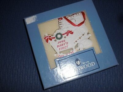 England Wedgwood Baby's First Christmas Ornament 1995 NEW!