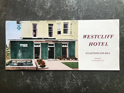 Westcliff Hotel - Clacton-on-Sea - Fold Out Leaflet - ref146