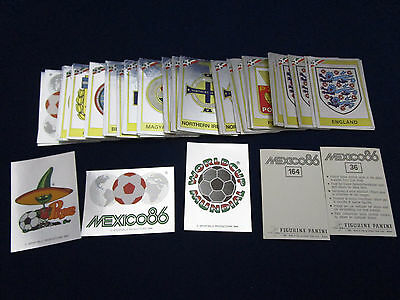 Panini WM WK WC 1986 WorldCup Mexico 86, pick 1 badge sticker/1 Wappen auswählen