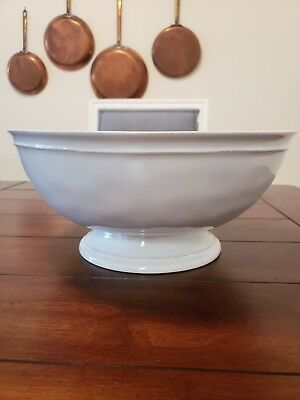 LARGE POTTERY BARN Decorative Footed Bowl White 4040 PicClick Mesmerizing Pottery Barn Decorative Bowls