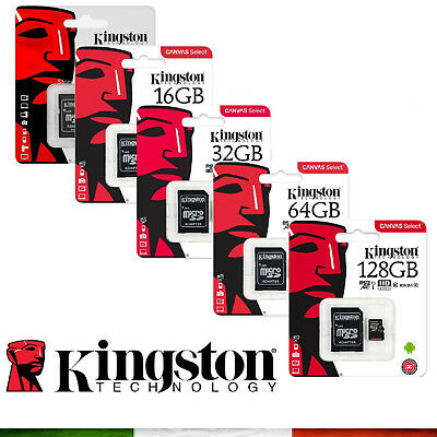 KINGSTON MICRO SD 8 16 32 GB 64 GB CLASSE 10 MICROSD ULTRA 80mb/s SCHEDA MEMORIA