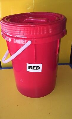 Hazardous materials buckets with non spout lids