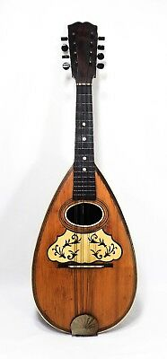 Italian Late 19Th-Early 20Th C. Ant. Inlaid Rosewood/spruce Bowl Back Mandolin