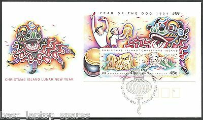 1994-20-01Christmas Island Lunar Year - Year of the Dog Minisheet