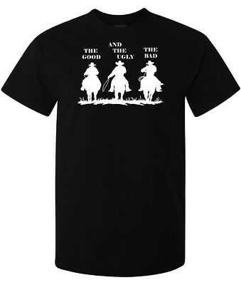 The Good The Bad and The Ugly Western cowboy men's t shirt black top quality