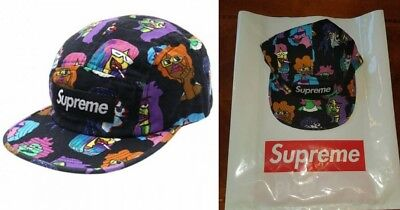 8e83742e103 SUPREME GONZ HEADS Camp Cap Plum Black White Moss green purple box ...