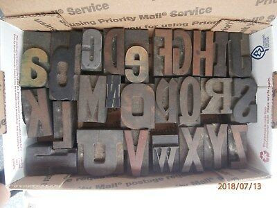 Letterpress Printing Wood  Type Eclectic Alphabet