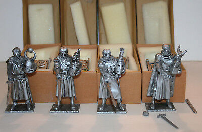 King Arthur and the Knights of the Round Table - set of 12 metal figurines