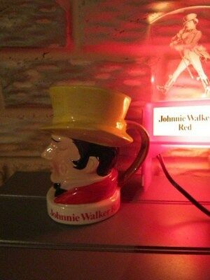 Johnnie Walker Whiskey lighted hanging sign w/ Johnnie Walker sipping cup