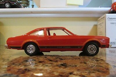 1977 Plymouth Volare promo model car in 1/25th plastic by Johan with box