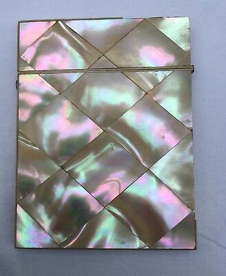 Mother Of Pearl Calling Card Case Antique
