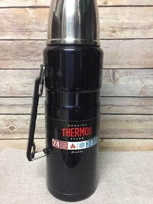Thermos Stainless Steel 68 Oz 24 Hour Double Wall Vacuum Insulated Sk2020 New