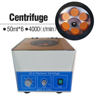6*50ml LD-3 Electric Benchtop Centrifuge Lab Medical Practice 4000rpm Laboratory