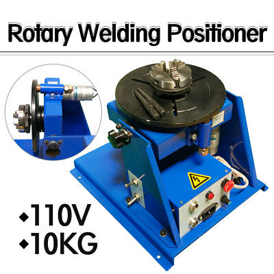"110V Rotary Welding Positioner Turntable Table 2.5"" 3 Jaw Lathe Chuck 2-20RPM A"
