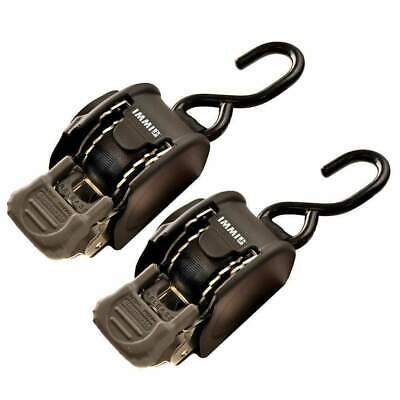 Indiana Mills-Boatbuckle Strap 6ft x 1in Retractable Pair #F106877