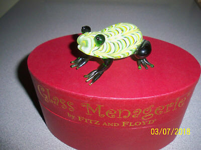 Fitz & Floyd Glass Menagerie Green Frog 43/109