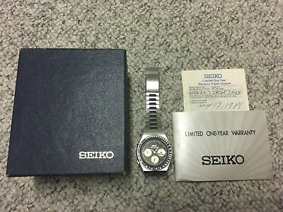 SEIKO 7a28-7039 VINTAGE 1984 15 JEWEL ANALOGUE QUARTZ CHRONOGRAPH NEEDS SERVICE