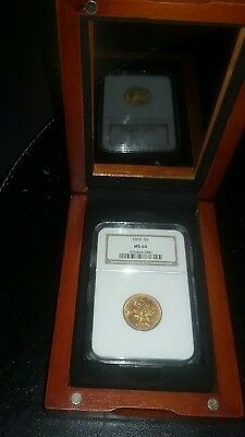 1895 $5 gold coin NGC MS64