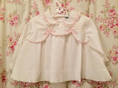 Vintage baby girl top, swing top, perm pleats, fall, 12 months