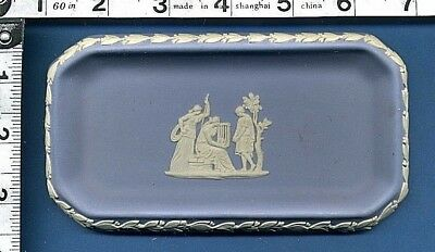 Wedgwood Jasper Ware Small Trinket Or Pin Tray Ancient Greek Scene In Relief