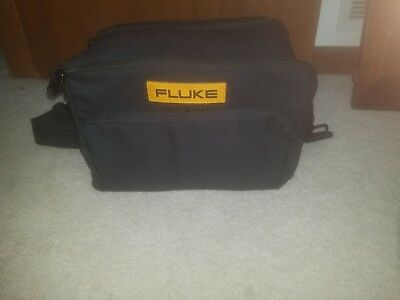 Fluke Meter Bag with assorted cables and leeds