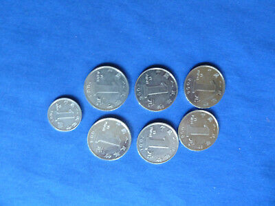 7 COINS from the PEOPLE's REPUBLIC of CHINA - 1 JIAO & 6 YUAN 2001-2008