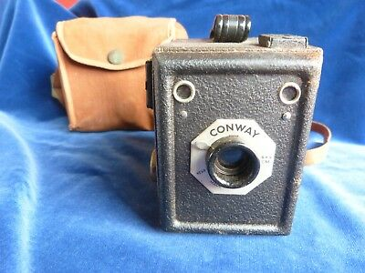 CONWAY Box Camera Vintage 1950 s with Case not tested Decorative item