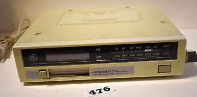 General Electric Spacemaker FM/AM/ Cassette Player  Model #7-4260A    #476