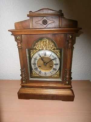 Wooden Bracket clock  ( Cross Arrow markings )