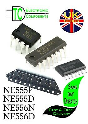 NE555P, NE556N Timer Chips sold in packs of 5  **UK SELLER** Free P&P