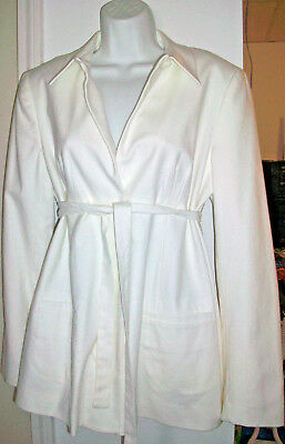 NEW A Pea in the Pod Maternity Jacket Coat Blazer L $225 NWT Versatile White Lrg