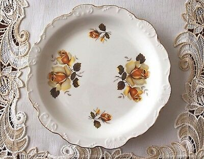 Vintage Old Foley James Kent Staffordshire Scalloped Edge Cake Plate C1950's