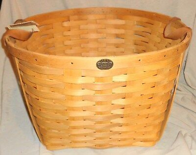 """LARGE Vintage Peterboro Basket With The Tag 12"""" Tall x 19"""" x 19"""" Nice LOOK !!!!!"""
