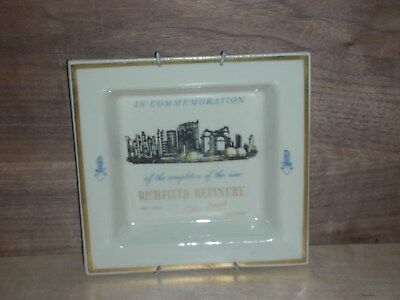 Richfield oil refinery plate May 1957 service station gas,plaque,sign,petroleum