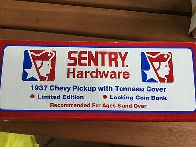 New Sentry hardware 1937 chevy locking coin bank