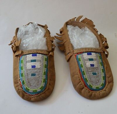 Nice Vintage American indian beaded moccasins