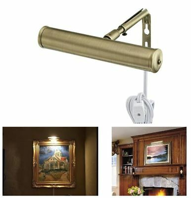 7-Inch Slimline Picture Light Antique Brass Wall Lamp