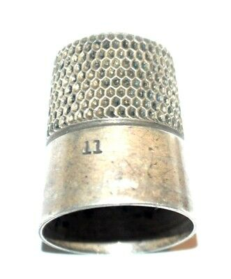 Antique STERLING SILVER  Simon Brothers  THIMBLE  size 11