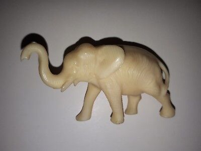 Antique Hand Carved Animal Bone Asian/ Oriental Elephant Figure