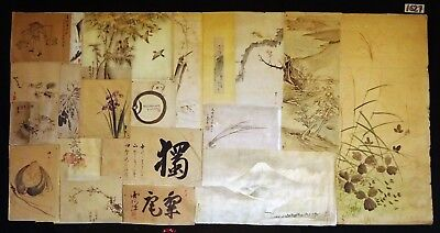 20x 19C/20C Japanese Mixed Lot Paintings, Drawings, Calligraphies (HMA) #1627