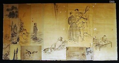 13x 19C/20C Japanese Mixed Lot Paintings, Drawings, Calligraphies (HMA) #1636