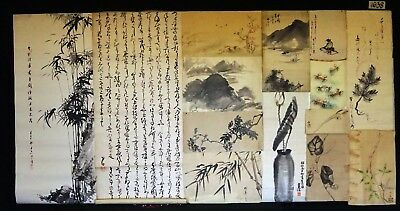 14x 19C/20C Japanese Mixed Lot Paintings, Drawings, Calligraphies (HMA) #1638