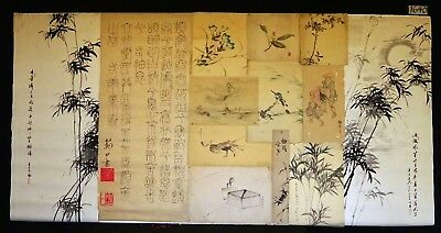 13x 19C/20C Japanese Mixed Lot Paintings, Drawings, Calligraphies (HMA) #1640